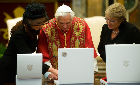 Pope Benedict Meets With Argentinan And Chilean Presidents