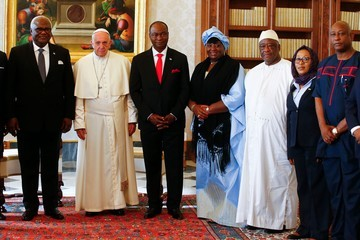 Pope Francis I Pope Francis Meets President of Sierra Leonean Ernest Bai Koroma