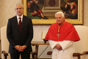 Boris Tadic Pope Meets With Serbian And Czech Leaders