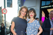 Kirstin Lennartz, Wanda Badwal attend the Porsche Design Launches Capture Collection by Chester Bennington at Design Haus on June 6, 2014 in Berlin, Germany.