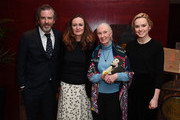 Brett Morgen, Lucy Yeomans, Dr. Jane Goodall and Daisy Ridley at PORTERÕs Incredible Women Talk followed by a screening of the BAFTA nominated Jane, in association with National Geographic Documentary Films on January 30, 2018 in London, England.