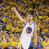 Klay Thompson Photos - Klay Thompson #11 of the Golden State Warriors watches a three-point basket go in against the Portland Trail Blazers during Game One of the Western Conference Semifinals for the 2016 NBA Playoffs at ORACLE Arena on May 01, 2016 in Oakland, California.  NOTE TO USER: User expressly acknowledges and agrees that, by downloading and or using this photograph, User is consenting to the terms and conditions of the Getty Images License Agreement. - Portland Trail Blazers v Golden State Warriors - Game One