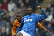 Kanu of Portsmouth in action during the Barclays Premier League match between  Portsmouth and Hull City at Fratton Park on March 20, 2010 in Portsmouth, England.