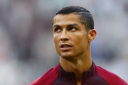 Cristiano Ronaldo of Portugal looks on prior to the FIFA Confederations Cup Russia 2017 Group A match between Portugal and Mexico at Kazan Arena on June 18, 2017 in Kazan, Russia.