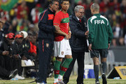 Head coach Carlos Queiroz of Portugal puts Cristiano Ronaldo into the game against Mozambique during their game at Wanderers Stadium on June 8, 2010 in Johannesburg, South Africa.