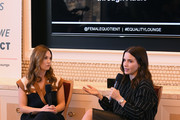 Global Head of Comminications, Spotify, Dustee Jenkins (L) and Sophia Bush speak during the Power of the Female Voice: Storytelling Through Audio panel during CES 2020 at Wynn Las Vegas on January 08, 2020 in Las Vegas, Nevada.