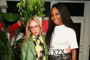 Chloe Sevigny and Venus Williams attend a Cocktail in Honor of Theaster Gates hosted by Prada and Derek Blasberg at Freehand Miami on December 6, 2018 in Miami, Florida.