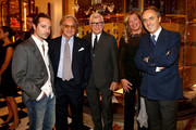 Matteo Procacciolo, Diego della Valle, Patrizio Bertelli, Stefania Alessandri and Nerio Alessandri  attend the Prada cocktail party as a part of Milan Fashion Week Womenswear Spring/Summer 2014 on September 20, 2013 in Milan, Italy.