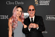 Paul Shaffer (R) and Victoria Shaffer attend the Pre-GRAMMY Gala and GRAMMY Salute to Industry Icons Honoring Clarence Avant at The Beverly Hilton Hotel on February 9, 2019 in Beverly Hills, California.