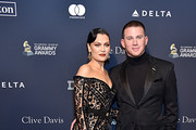 "(L-R) Jessie J and Channing Tatum attend the Pre-GRAMMY Gala and GRAMMY Salute to Industry Icons Honoring Sean ""Diddy"" Combs on January 25, 2020 in Beverly Hills, California."