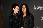 Alice Cooper (R) and Sheryl Goddard attend the Pre-GRAMMY Gala and GRAMMY Salute to Industry Icons Honoring Clarence Avant at The Beverly Hilton Hotel on February 9, 2019 in Beverly Hills, California.