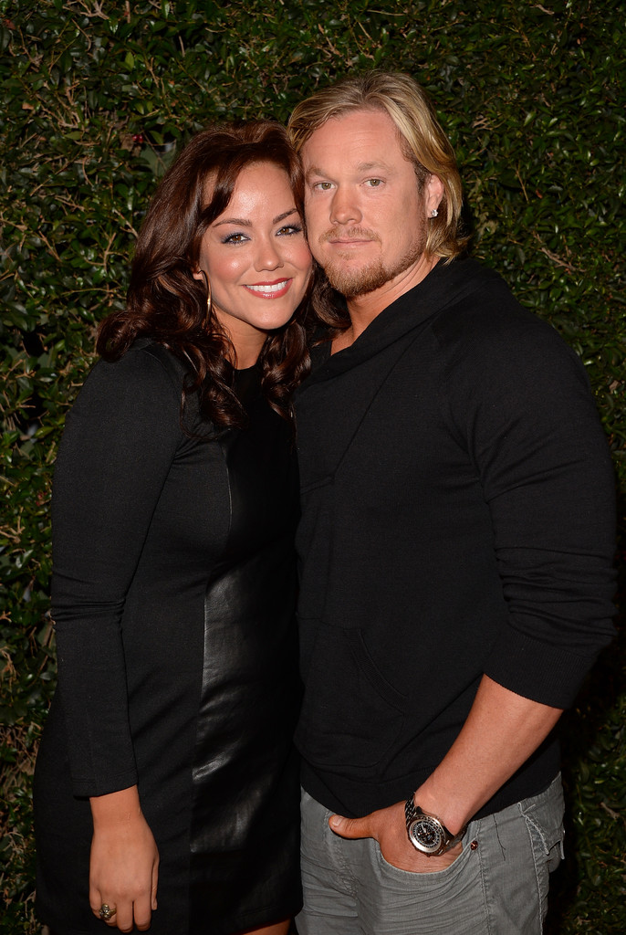 Katy Mixon and husband