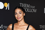 Moran Atias arrives at the premiere of 1091 Media's 'Them That Follow' at the Landmark Theatre on July 30, 2019 in Los Angeles, California.