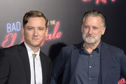 """Lewis Pullman and Bill Pullman attend the premiere of 20th Century FOX's """"Bad Times At The El Royale"""" at TCL Chinese Theatre on September 22, 2018 in Hollywood, California."""