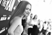 """Image has been converted to black and white.) Amanda Seyfried attends the premiere of 20th Century Fox's """"The Art of Racing in the Rain"""" at El Capitan Theatre on August 01, 2019 in Los Angeles, California."""