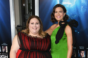 """Chrissy Metz and Mandy Moore attend the premiere of 20th Century Fox's """"Breakthrough"""" at Westwood Regency Theater on April 11, 2019 in Los Angeles, California."""