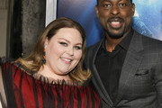 "Chrissy Metz (L) and Sterling K. Brown attend the premiere of 20th Century Fox's ""Breakthrough"" at Westwood Regency Theater on April 11, 2019 in Los Angeles, California."