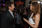 """Actor Sharlto Copley (L) and actress Jessica Biel arrive at the premiere of 20th Century Fox's """"The A-Team"""" held at Grauman's Chinese Theatre on June 3, 2010 in Los Angeles, California."""