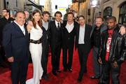 "(L-R) Fox Film Entertainment Chairman and CEO Jim Gianopulos, actors Jessica Biel, Sharlto Copley, Bradley Cooper, Liam Neeson, Fox Film Entertainment Chairman and CEO Tom Rothman, director Joe Carnahan, and actor Quinton 'Rampage' Jackson arrive at the premiere of 20th Century Fox's ""The A-Team"" held at Grauman's Chinese Theatre on June 3, 2010 in Los Angeles, California."