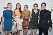 "Actors Taissa Farmiga, Katie Chang, Claire Julien, Emma Watson and Israel Broussard arrive to the Los Angeles premiere of A24's ""The Bling Ring"" at Directors Guild Of America on June 4, 2013 in Los Angeles, California."