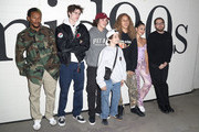 "(L-R)  Actors Na-Kel Smith, Ryder McLaughlin, Gio Galicia, Sunny Suljic, Olan Prenatt actress Alexa Demie, and director/writer Jonah Hill attend the Premiere of A24's ""Mid90's"" at the West Los Angeles Courthouse on October 18, 2018 in Los Angeles, California."