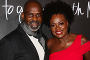"Julius Tennon (L) and Viola Davis (R) attend the premiere of the series finale of ABC's ""How To Get Away With Murder' at Yamashiro Hollywood on February 08, 2020 in Los Angeles, California."
