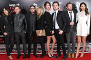 (L-R) Johanna Bennett, Matthew Followill, Nathan Followill, Jessie Baylin, Martha Patterson, Jared Followill, Caleb Followill and Lily Aldridge attend the premiere of 'August: Osage County' presented by The Weinstein Company with DeLeon Tequila on December 12, 2013 in New York City.