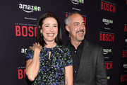 """Actors Mimi Rogers and Titus Welliver attend  the Premiere Of Amazon's """"Bosch"""" Season 2 at SilverScreen Theater at the Pacific Design Center on March 3, 2016 in West Hollywood, California."""
