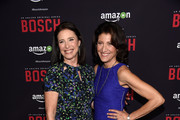 """Actors Mimi Rogers and Amy Aquino arrrive at the Premiere Of Amazon's """"Bosch"""" Season 2 at SilverScreen Theater at the Pacific Design Center on March 3, 2016 in West Hollywood, California."""