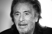 """Image has been converted to black and white.) Al Pacino attends the premiere of Amazon Prime Video's """"Hunters"""" at DGA Theater on February 19, 2020 in Los Angeles, California."""
