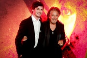"""Logan Lerman and Al Pacino attend the premiere of Amazon Prime Video's """"Hunters"""" at DGA Theater on February 19, 2020 in Los Angeles, California."""