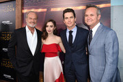 "(L-R) Actors Kelsey Grammer, Lily Collins, Matt Bomer and Roy Price, Head of Amazon Studios arrive at the premiere of Amazon Studios' ""The Last Tycoon"" at the Harmony Theatre on July 27, 2017 in Los Angeles, California."