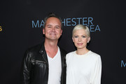 "Head of Amazon Studios Roy Price (L) and Actress Michelle Williams (R) attend the premiere of Amazon Studios' ""Manchester By The Sea"" at Samuel Goldwyn Theater on November 14, 2016 in Beverly Hills, California."