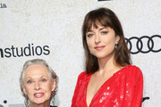 """Tippi Hedren (L) and Dakota Johnson attend the premiere of Amazon Studios """"Suspiria"""" at ArcLight Cinerama Dome on October 24, 2018 in Hollywood, California."""
