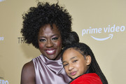 "Viola Davis (L) and daughter Genesis Tennon arrive at the premiere of Amazon Studios' ""Troop Zero"" at Pacific Theatres at The Grove on January 13, 2020 in Los Angeles, California."
