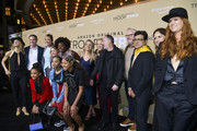 "(L-R) Bert, Matt Newman, Allison Janney, McKenna Grace, Viola Davis, Milan Ray, Kai Ture, Lucy Alibar, Jennifer Salke, Jim Gaffigan, Ash Thapliyal, Julie Rapaport, and Bertie arrive at the premiere of Amazon Studios' ""Troop Zero"" at Pacific Theatres at The Grove on January 13, 2020 in Los Angeles, California."