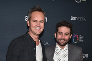 Head of Amazon Video, Roy Price (L) and Head of Amazon Comedy, Joe Lewis attend the Premiere Of Amazon's 'Transparent' Season 2   at SilverScreen Theater at the Pacific Design Center on November 9, 2015 in West Hollywood, California.