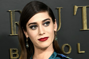 "Lizzy Caplan attends the Premiere Of Apple TV+'s ""Truth Be Told"" at AMPAS Samuel Goldwyn Theater on November 11, 2019 in Beverly Hills, California."