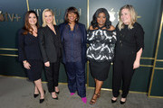 """(L-R) Lauren Levy Neustadter, Reese Witherspoon, Nichelle D. Tramble, Octavia Spencer, and Kristen Campo attend the Premiere of Apple TV+'s """"Truth Be Told"""" at AMPAS Samuel Goldwyn Theater on November 11, 2019 in Beverly Hills, California."""