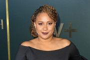 Tracie Thoms arrives at the premiere of Apple TV+'s 'Truth Be Told' at AMPAS Samuel Goldwyn Theater on November 11, 2019 in Beverly Hills, California.
