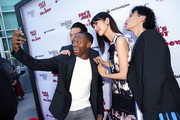 Actors Kentez Asaka, Marcus Johnson, Tao Okamoto and Kihiro attend the premiere of Breaking Glass Pictures' 'She's Just A Shadow'  at ArcLight Hollywood on July 18, 2019 in Hollywood, California.