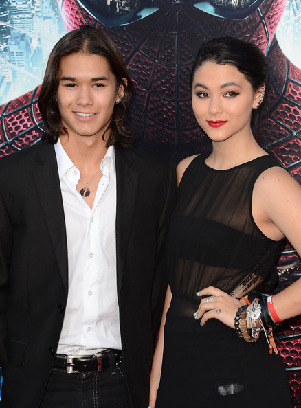 Booboo Stewart and Fivel Stewart arrive at the premiere of Columbia Pictures' 'The Amazing Spider-Man' at the Regency Village Theatre on June 28, 2012 in Westwood, California.