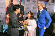 """(L-R) Charles Melton, Vanessa Hudgens, and Alexander Ludwig attend the premiere of Columbia Pictures' """"Bad Boys For Life"""" at TCL Chinese Theatre on January 14, 2020 in Hollywood, California."""