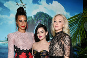 "(L-R) Parisa Fitz-Henley, Lucy Hale and Portia Doubleday attend the premiere of Columbia Pictures' ""Blumhouse's Fantasy Island"" at AMC Century City 15 on February 11, 2020 in Century City, California."