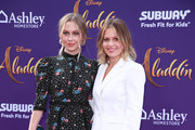 "Natasha Bure (L) and Candace Cameron-Bure attend the premiere of Disney's ""Aladdin"" on May 21, 2019 in Los Angeles, California."