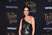 """TV personality Louise Roe attends Disney's """"Beauty and the Beast"""" premiere at El Capitan Theatre on March 2, 2017 in Los Angeles, California."""