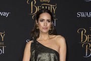 TV personality Louise Roe attends the world premiere of Disney's Beauty and the Beast at El Capitan Theatre in Hollywood, California on March 2, 2017. / AFP PHOTO / VALERIE MACON