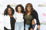 "(L-R) Sherri Shepherd, Kylee Russell, Kym Whitley with her son, Joshua Kaleb Whitley attend the Los Angeles premiere for Disney Channel's ""Zombies"" held at Walt Disney Studio Lot on February 3, 2018 in Burbank, California."