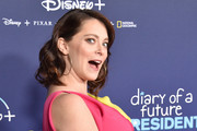 """Rachel Bloom attends the Premiere Of Disney +'s """"Diary Of A Future President"""" at ArcLight Cinemas on January 14, 2020 in Hollywood, California."""