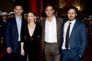 "(L-R) Actors Eric Bana, Holliday Grainger, Chris Pine and Casey Affleck arrive at the premiere of Disney's ""The Finest Hours"" at the TCL Chinese Theatre on January 25, 2016 in Los Angeles, California."